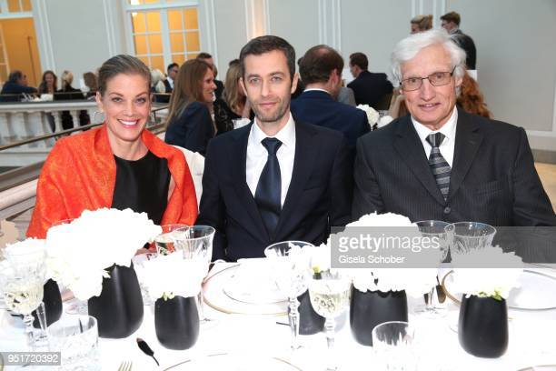 Marie Baeumer Vincent Montalescot Executive Vice President Marketing Montblanc International and Prince Luitpold Rupprecht Heinrich of Bavaria during...