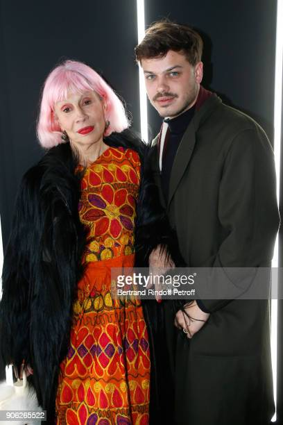 Marie Beltrami and Contemporary Artist Hugo Matha attend the 'YSL Beauty Hotel' event during Paris Fashion Week Menswear Fall/Winter 20182019 on...