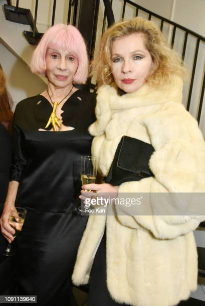 Marie Beltrami and Eva Ionesco attend the Dada Girl Marie Beltrami Exhibition Preview at Alfalibra Gallery on January 29 2019 in Paris France