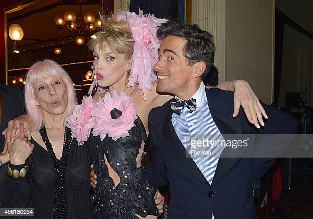 Marie Beltrami Arielle Dombasle and Vincent Dare attend the Cabaret New Burlesque Show at the Cirque D'Hiver on September 26 2014 in Paris France
