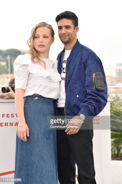 Marie Bernard and Shain Boumedine attend the photocall for Mektoub My Love Intermezzo during the 72nd annual Cannes Film Festival on May 24 2019 in...