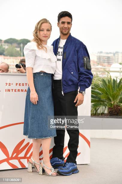 "Marie Bernard and Shain Boumedine attend the photocall for ""Mektoub, My Love: Intermezzo"" during the 72nd annual Cannes Film Festival on May 24, 2019..."