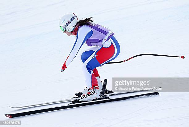 Marie Bochet of France competes during the Audi FIS Alpine Ski World Cup Women's Downhill Training on December 19 2014 in Val D'Isere France