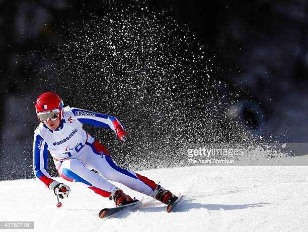 Marie Bochet of France competes in the Alpine Skiing Women's SuperG Standing during day three of Sochi 2014 Paralympic Winter Games at at Rosa Khutor...