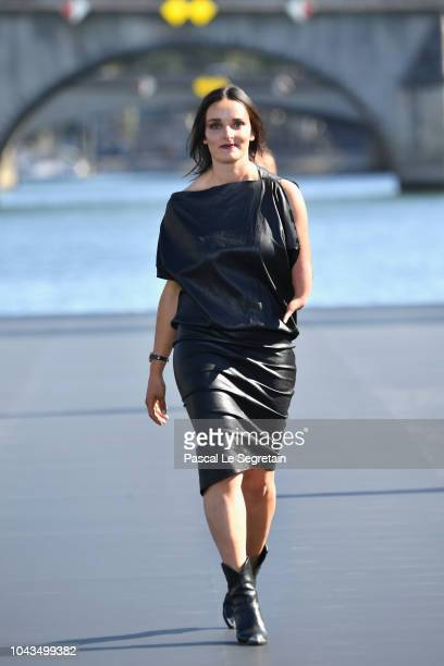 Marie Bochet walks the runway during Le Defile L'Oreal Paris as part of Paris Fashion Week Womenswear Spring/Summer 2019 on September 30 2018 in...