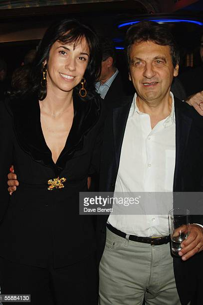 Marie Boublil and Alain Boublil attend the 20th Anniversary Celebration of Les Miserables after party at the Prince of Wales Theatre on October 8...