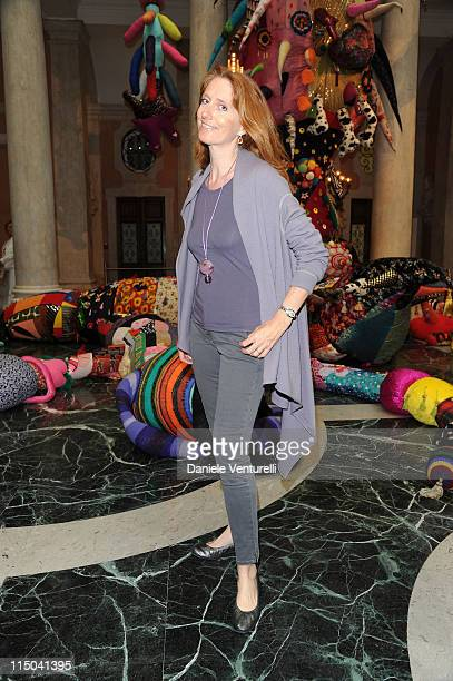 Marie Brandolini D'Adda attends the 'Il Mondo Vi Appartiene' Exhibition Opening during the 54th International Art Biennale at Palazzo Grassi on June...