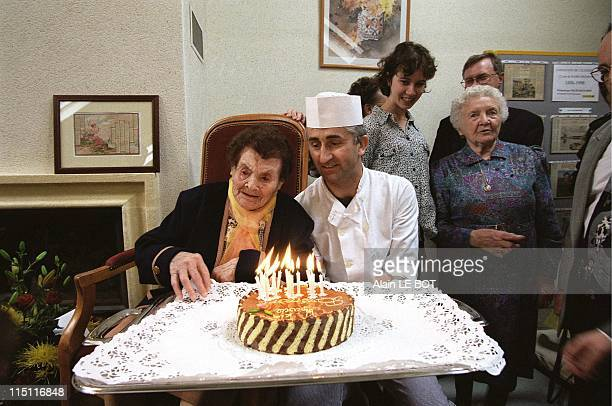 Marie Bremont's 112th Birthday in Cande France on April 25 1998