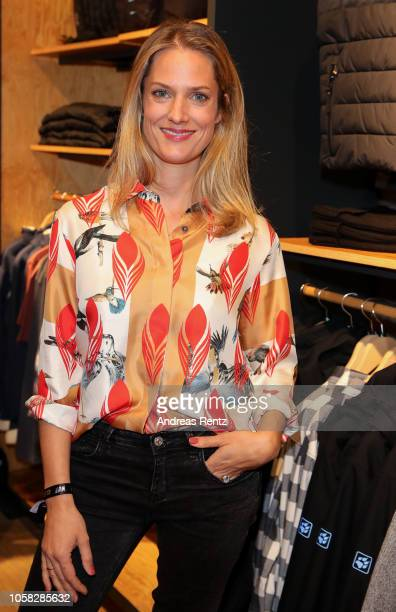 Marie Burchard attends the meet and greet at Jack Wolfskin flagship store prior to the movie premiere of 'Wuff' on October 22 2018 in Munich Germany