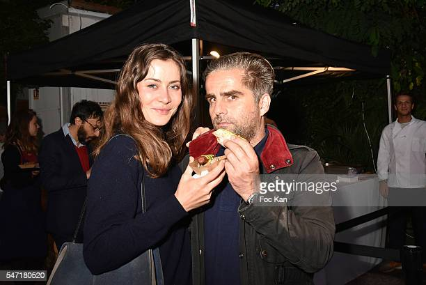 Marie Camille Denjean and AD Yorgo Tloupas attend the La Cafete Nationale by Le Fooding Auction Event to Benefit Children of Congo Bethanie at Villa...