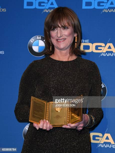 Marie Cantin poses with the Frank Capra Achievement Award in the press room at the 69th Annual Directors Guild Awards February 4 2017 in Beverly...