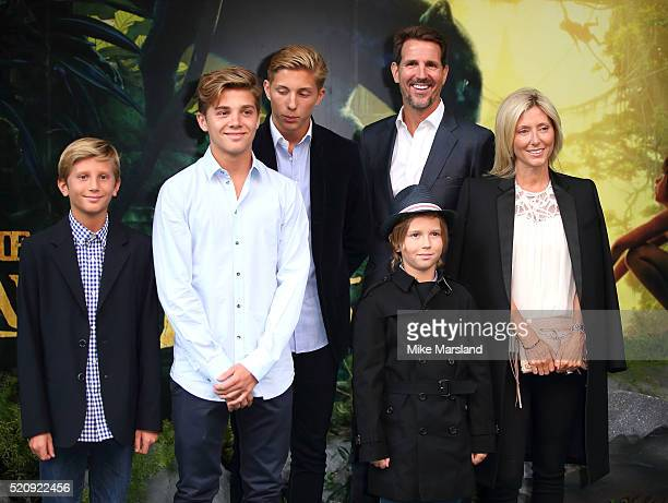 Marie Chantal Crown princess of Greece and family arrive for the European premiere of 'The Jungle Book' at BFI IMAX on April 13 2016 in London England