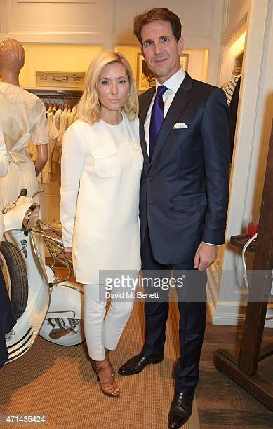 Marie Chantal Crown Princess of Greece and Pavlos Crown Prince of Greece attend the book launch party for 'India Hicks Island Style' at Ralph Lauren...