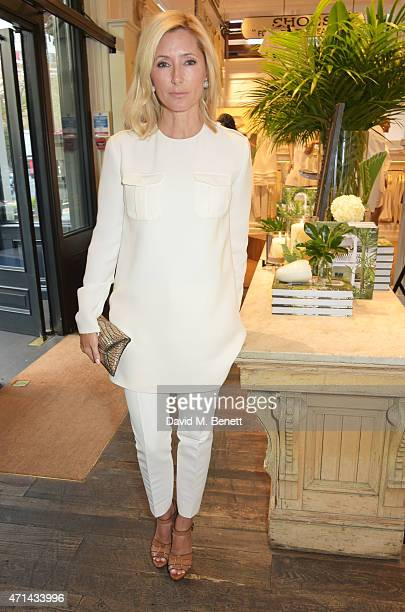 Marie Chantal Crown Princess of Greece attends the book launch party for 'India Hicks Island Style' at Ralph Lauren Fulham Road on April 28 2015 in...