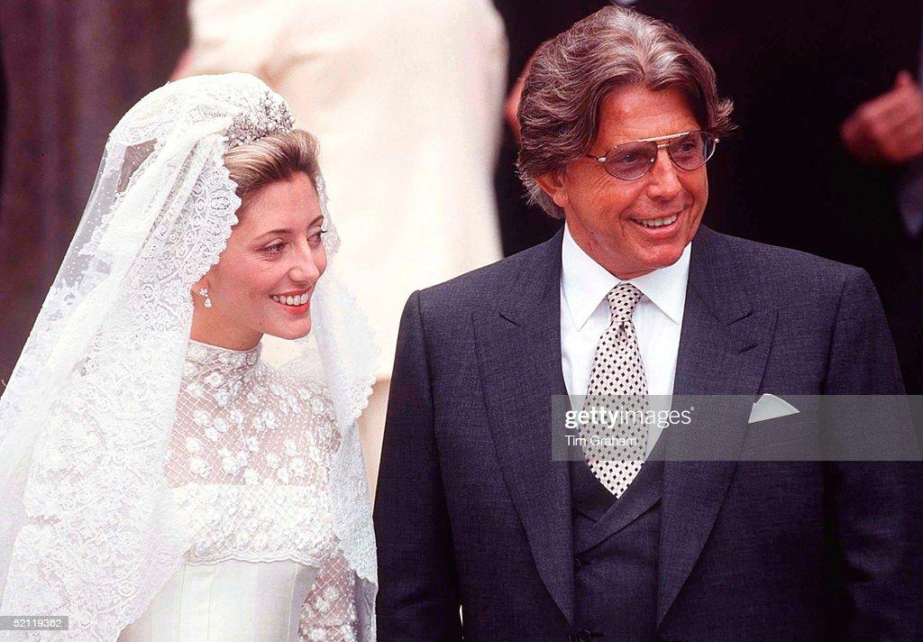 Marie-chantal Miller And Her Father Robert Miller : News Photo
