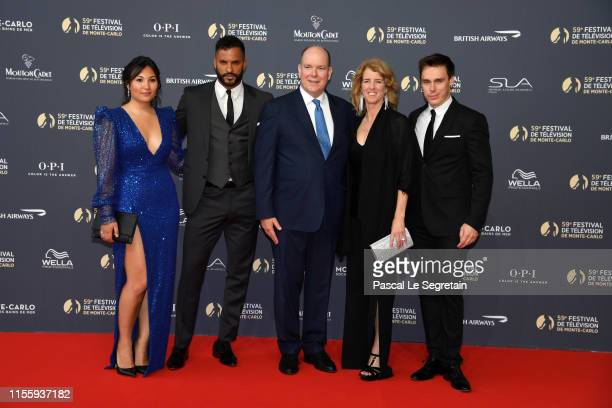 Marie Chevalier, Ricky Whittle, Prince Albert II of Monaco, Rory Kennedy and Louis Ducruet attend the opening ceremony of the 59th Monte Carlo TV...