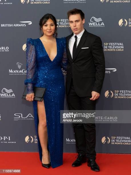Marie Chevallier and Louis Ducruet attend the opening ceremony of the 59th Monte Carlo TV Festival on June 14, 2019 in Monte-Carlo, Monaco.