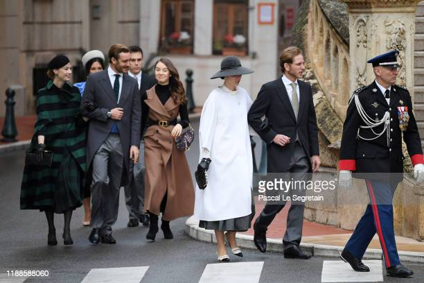 Marie Chevallier, Louis Ducruet, Beatrice Borromeo, Pierre Casiraghi,Alexandra of Hanover, Tatiana Santo Domingo and Andrea Casiraghi arrive at the...