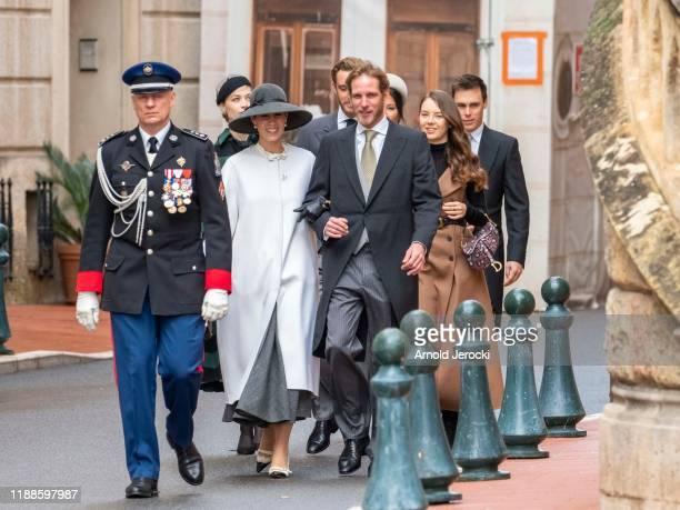 Marie Chevallier Louis Ducruet Beatrice Borromeo Pierre CasiraghiAlexandra of Hanover Tatiana Santo Domingo and Andrea Casiraghi arrive at the Monaco...