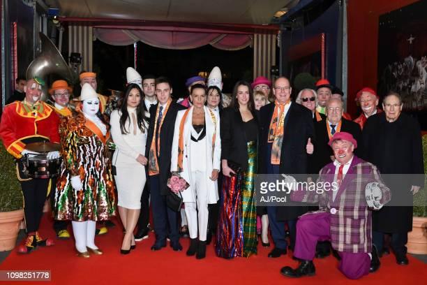 Marie Chevallier Louis Ducruet Princess Stephanie of Monaco Pauline Ducruet and Prince Albert II of Monaco attend the 43rd International Circus...