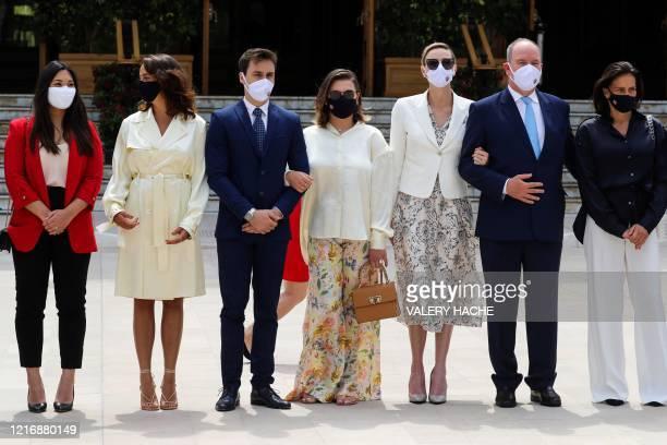 Marie Chevallier, Pauline Ducruet, Louis Ducruet, Camille Gottlieb, Princess Charlene of Monaco, Prince's Albert II of Monaco and Princess Stephanie,...