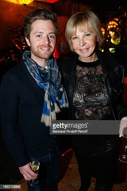 Marie Christiane Marek and her godson Antoine Holtz attend 'Des gens qui s'embrassent' premiere after party at Maxim's Restaurant on April 1 2013 in...