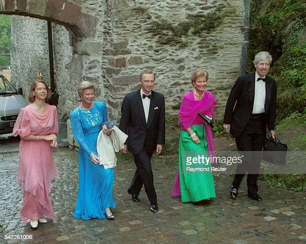 Marie Christine with parents Marie Astrid and Chr-istian of Hapsburg Lorraine, Princess Margaretha and her husband Prince Nicolas.