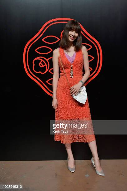 Marie Claire attends the Shiseido Makeup Tokyo Launch Event on August 1 2018 in Tokyo Japan