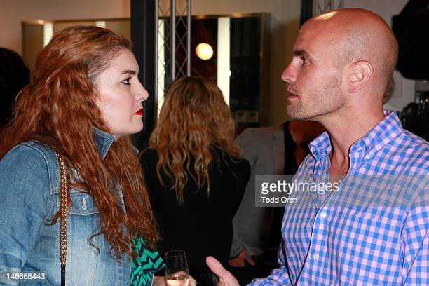 """Marie Claire Editor Abby Gardner and VP of Retail Noah Rosenblatt attend the Marie Claire & MAKE UP FOR EVER DVD Release Event For """"The Artist"""" on..."""