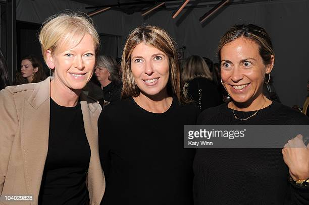 Marie Claire Editor in Chief Joanna Coles Nina Garcia and writer Amy Larocca are seen around Lincoln Center during MercedesBenz Fashion Week on...