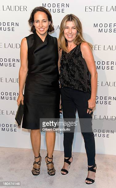 """Marie Claire Editor-in-Chief Anne Fulenwider and Marie Claire creative director Nina Garcia attend the Estee Lauder """"Modern Muse"""" Fragrance Launch at..."""