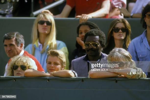 Marie Claire Noah at Roland Garros stadium during French Open, in June 1984 in Paris, France.