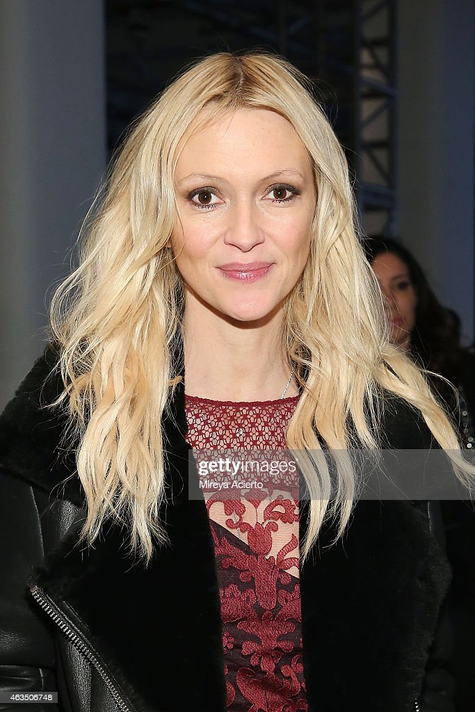 Marie Claire senior fashion editor, Zana Roberts Rossi attends Public School runway show during MADE Fashion Week Fall 2015 at Studio 330 on February 15, 2015 in New York City.