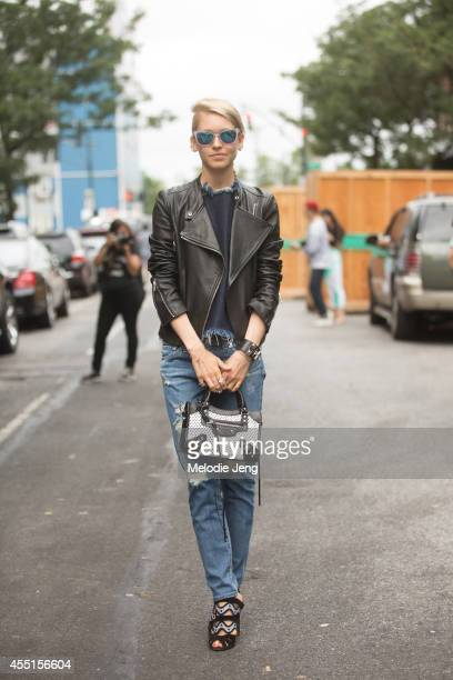 Marie Claire Senior Market Editor Jessica Minkoff on Day 6 of New York Fashion Week Spring/Summer 2015 on September 9 2014 in New York City