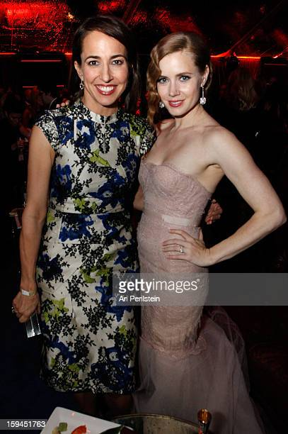 Marie Claire's Editor In Chief Anne Fulenwider and actress Amy Adams attend the The Weinstein Company's 2013 Golden Globe Awards after party...
