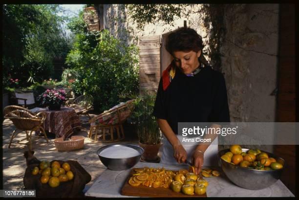 Marie Claude Cano Cutting Oranges