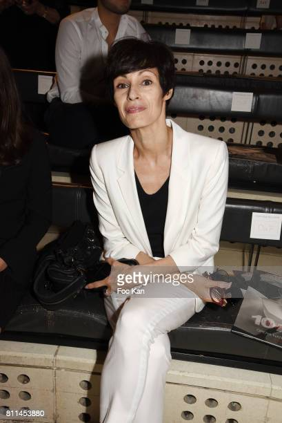 Marie Claude Pietragalla attend the Stephane Rolland Haute Couture Fall/Winter 20172018 show as part of Haute Couture Paris Fashion Week on July 4...