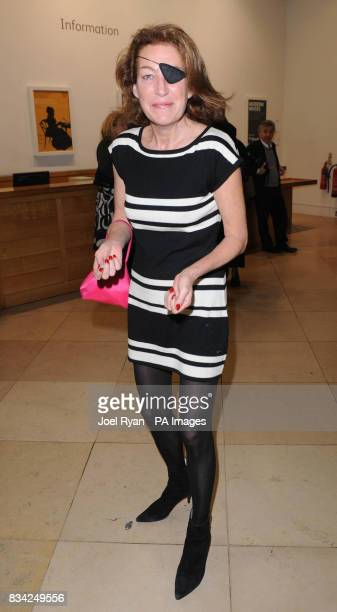 Marie Colvin arrives for a Private View of the Brilliant Women/Modern Muses at the National Portrait Gallery central London