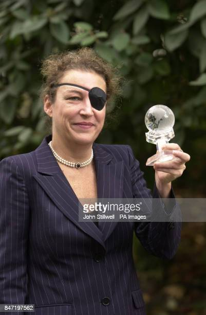 Marie Colvin the Sunday Times correspondent during the 'Women of the year Lunch 2001' at the Savoy Hotel in London