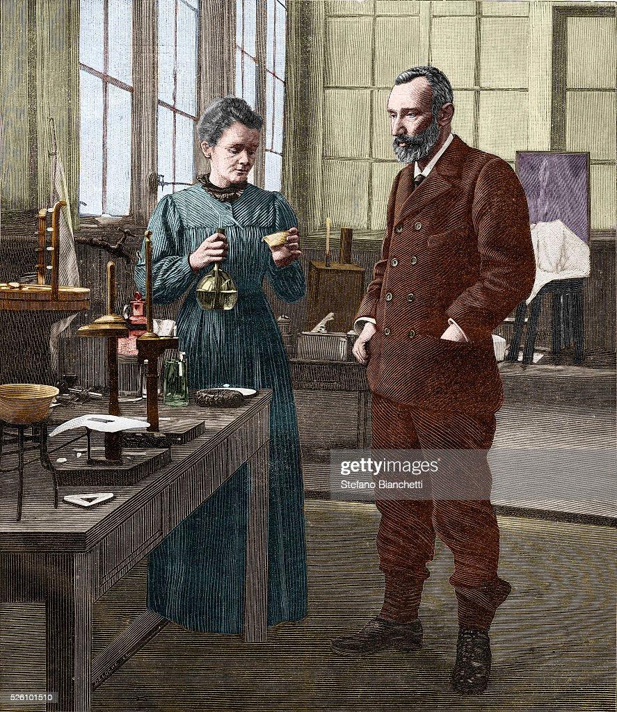 Marie Curie and Pierre Curie : Fotografía de noticias