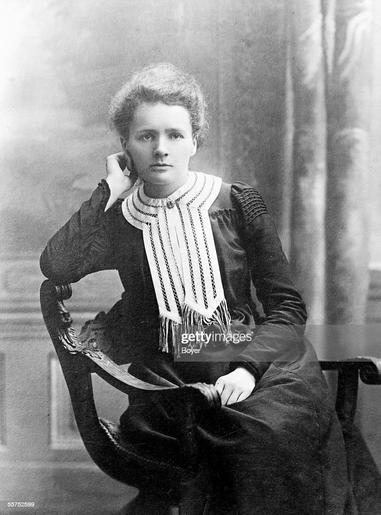 Marie Curie (1867-1934), French physicist, at the time of her Nobel prize of chemistry, 1903.