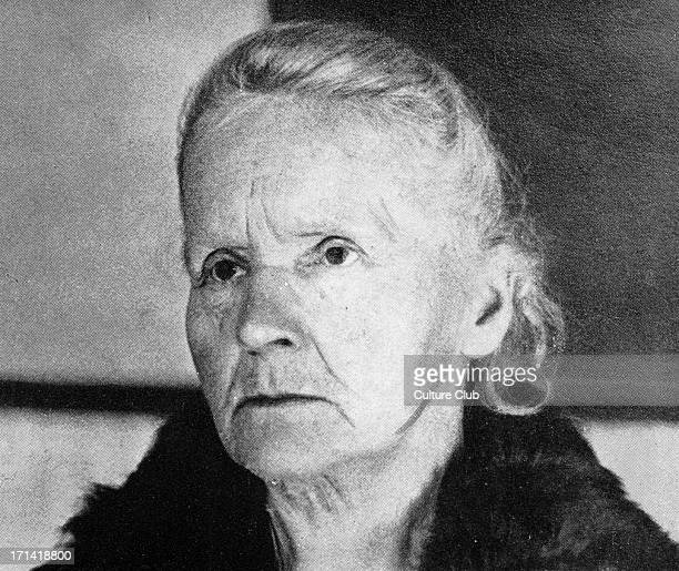 Marie Curie in 1931 three years before her death MC Polishborn French physicist and pioneer in radioactivity 7 November 1867 – 4 July 1934