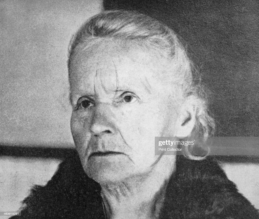 Marie Curie, Polish-born French physicist, 1931. : News Photo