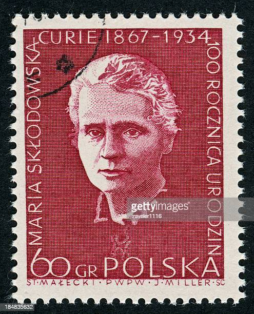 marie curie stamp - polish culture stock pictures, royalty-free photos & images