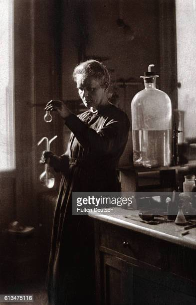 Marie Curie the Polishborn French physicist who along with her husband Pierre researched into radioactivity and discovered radium and polonium