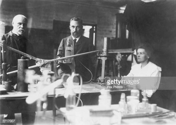 Marie Curie with her husband fellow chemist Pierre Curie and an unknown man She was awarded the Nobel prize for chemistry in 1911 for her work on...