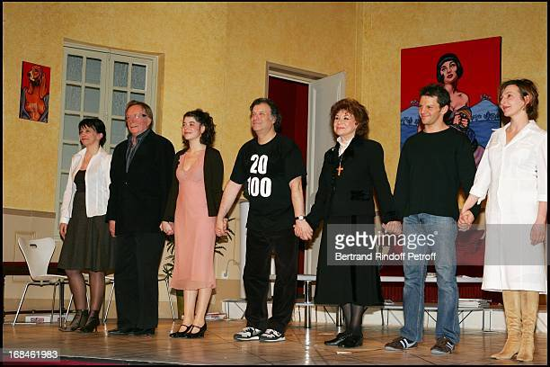 Marie Cuvelier Bernard Dheran Zoe Nonn Daniel Russo Claire Maurier Yvon Martin and Sophie Mounicot at Laurant Baffie And His Theatrical Group...