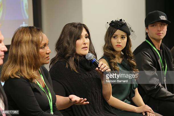 Marie Da Silva Ricki Lake Megan Nicole and Wesley Stromberg attend the launch of #TREATMENTFORALL at the Facebook Office on November 30 2015 in New...