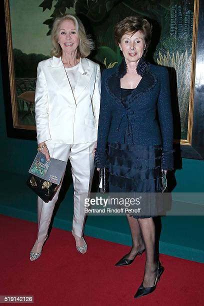 Marie Dabadie and MarieLouise de Clermont Tonnerre attend the Societe des Amis du Musee D'Orsay Dinner and Private tour of the Exhibition Le Douanier...