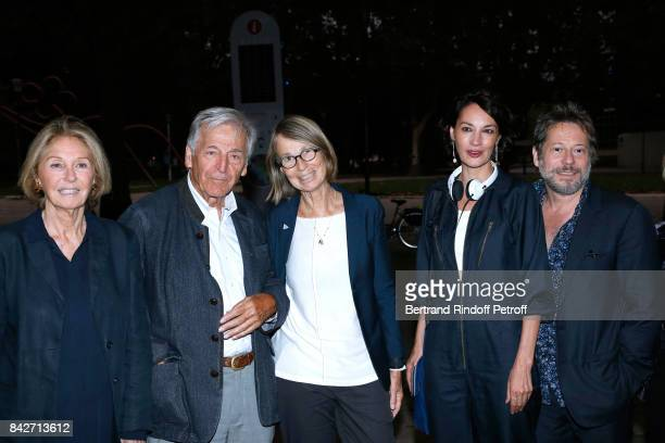 Marie Dabadie President of Cinematheque Francaise Constantin CostaGavras Minister of Culture Francoise Nyssen actress Jeanne Balibar and...